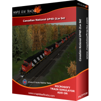 Canadian National GP40-2Lw Set